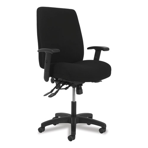Network High-Back Chair, Supports up to 250 lbs., Black Seat/Black Back, Black Base