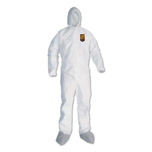 A45 Liquid/Particle Protection Surface Prep/Paint Coveralls, 3XL, White, 25/CT
