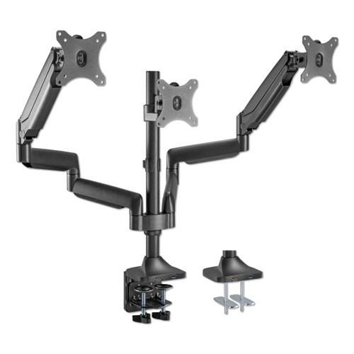 AdaptivErgo Heavy-Duty Articulating Triple Monitor Arm with USB, 32, Black