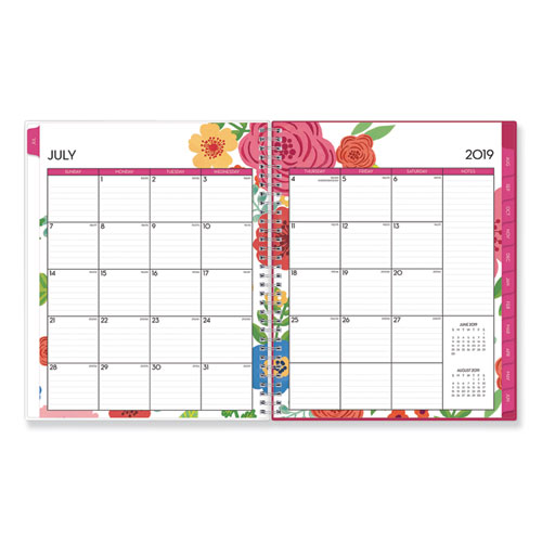Mahalo Academic Year CYO Weekly/Monthly Planner, 11 x 8.5, Tropical Floral, 2020-2021