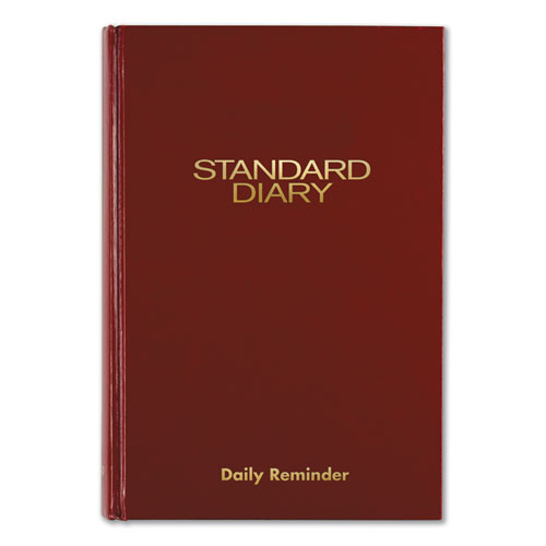 Standard Diary Recycled Daily Reminder, Red, 5 3/4 x 8 1/4, 2021