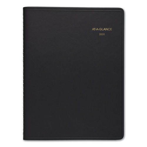Weekly Appointment Book Ruled, Hourly Appts, 8 3/4 x 6 7/8, Black, 2020-2021 | by Plexsupply