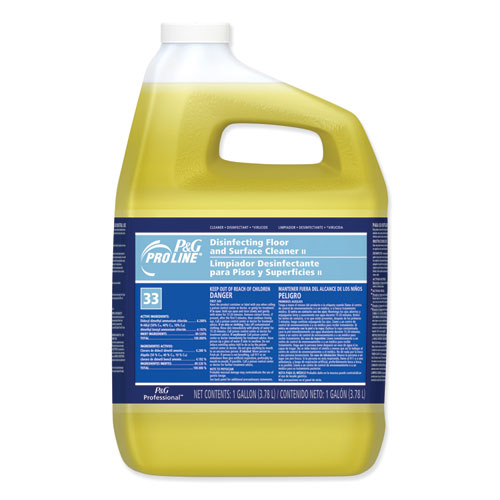 Disinfecting Floor and Surface Liquid Cleaner II, 1 gal Bottle, 4/Carton