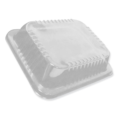 Dome Lids for 10 1/2 x 12 5/8 Oblong Containers, Low Dome, 100/Carton