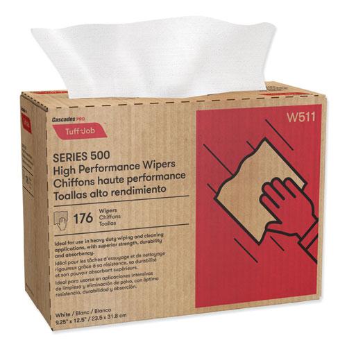 Tuff-Job S500 High Performance Wipers, 9 1/4 x 12 1/2, 176/Box, 10 Box/Carton