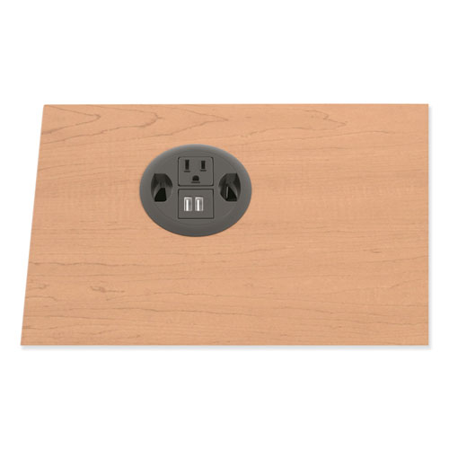 USB AC Power Hub Grommet, 3 Diameter, Black