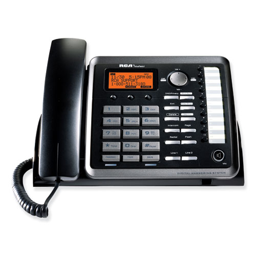 Two-Line Corded Speakerphone, Expandable Up To 10 Cordless Handsets