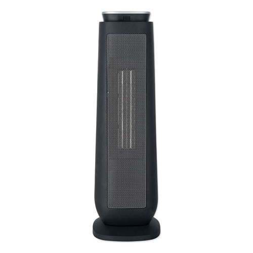 Ceramic Heater Tower with Remote Control, 7.17 x 7.17 x 22.95, Black