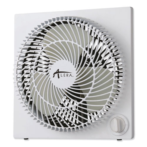 9 3-Speed Desktop Box Fan, Plastic, White