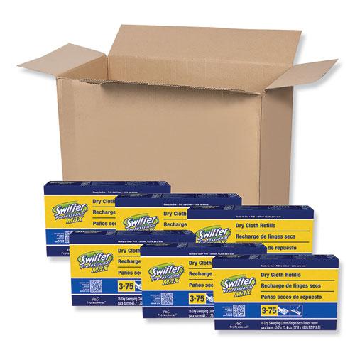 Max/XL Dry Refill Cloths, 17 7/8 x 10, White, 16/Box, 6 Boxes/Carton