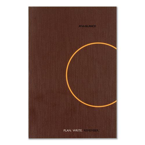 One-Day-Per-Page Planning Notebook, 9 x 6, Dark Gray/Orange, 2021
