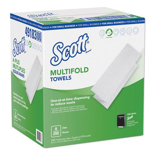 Multi-Fold Paper Towels, 9.2 x 9.4, White, 250/Pack, 8 Packs/Carton