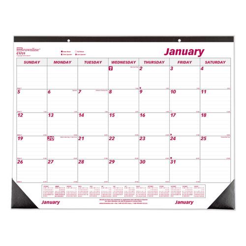 Monthly Deskpad Calendar, Chipboard, 22 x 17, 2020 | by Plexsupply