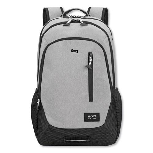 Region Backpack, For 15.6 Laptops, 13 x 5 x 19, Light Gray