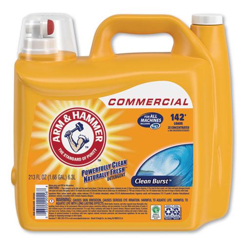 Arm & Hammer™ Dual HE Clean-Burst Liquid Laundry Detergent, 213 oz Bottle, 2/Carton