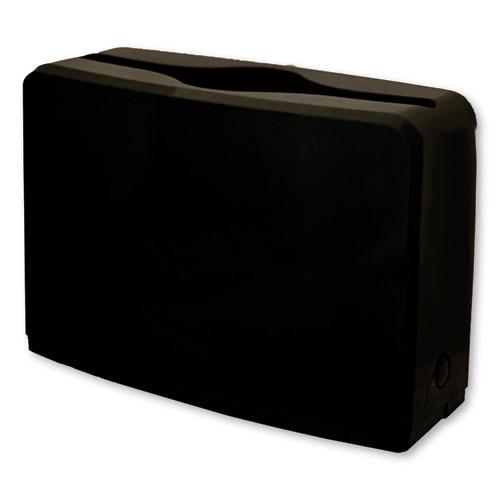 GEN Countertop Folded Towel Dispenser, 10.63 x 7.28 x 4.53, Black