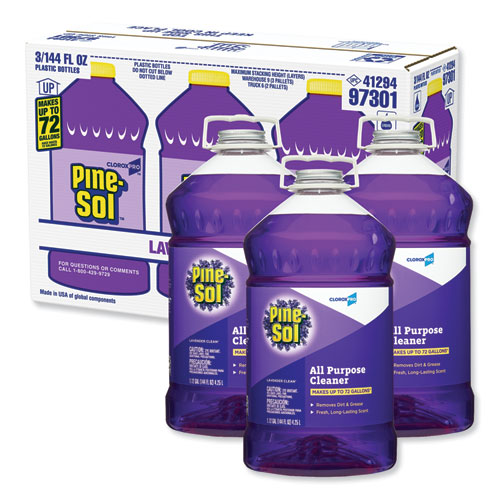 All Purpose Cleaner, Lavender Clean, 144 oz Bottle, 3/Carton