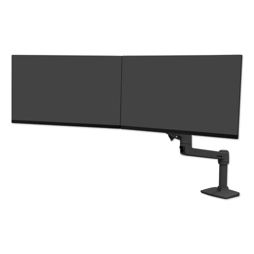 Ergotron LX Dual Direct Monitor Arm for Monitors up to 25, 33.5w x 33.5d x 21h, Matte Black