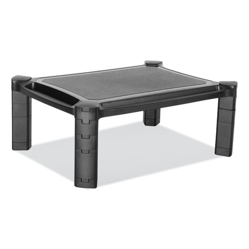 Large Monitor Stand with Cable Management, 12.99 x 17.1, Black