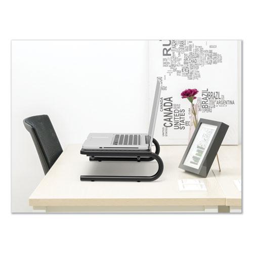 Metal Monitor Riser, 14 5/8 x 9 1/4 x 4, Black