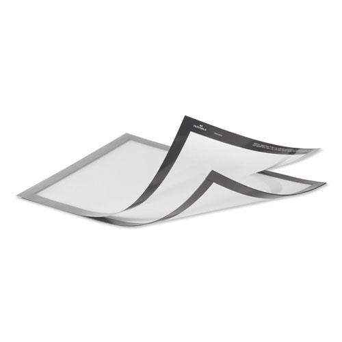 DURAFRAME Magnetic Plus Sign Holder, 8.5 x 11, Silver Frame, 2/Pack