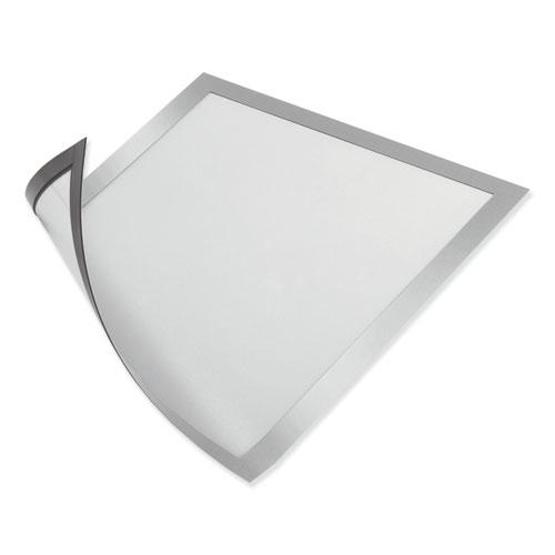 DURAFRAME Magnetic Sign Holder, 5.5 x 8.5, Silver Frame, 2/Pack