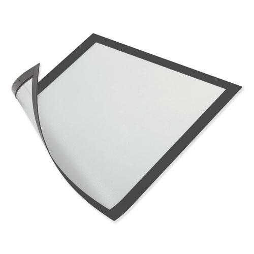 DURAFRAME Magnetic Sign Holder, 5.5 x 8.5, Black Frame, 2/Pack