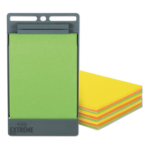 XL Notes with Holder, Green-Orange-Yellow, 4.5 x 6.75, 25 Sheets/Pad, 9 Pads/Pack