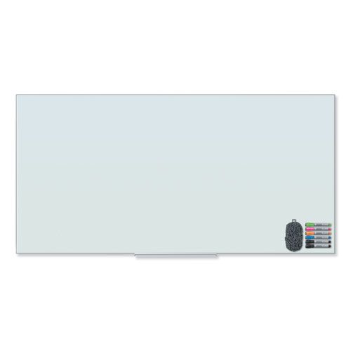 Floating Glass Dry Erase Board, 72 x 36, White