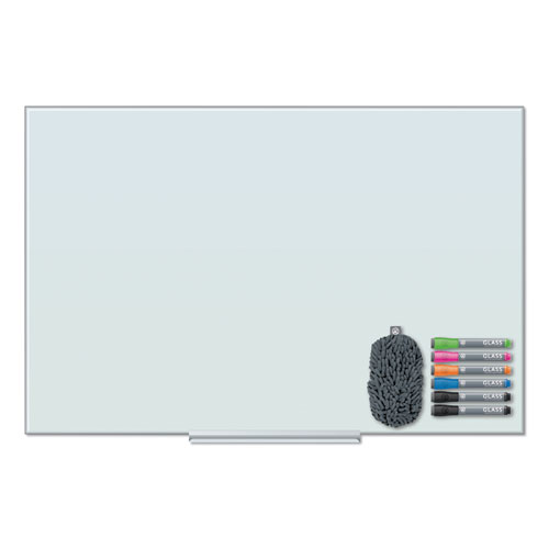 Floating Glass Dry Erase Board, 48 x 36, White