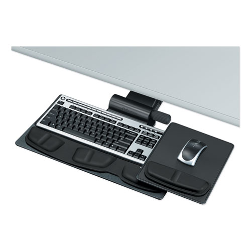 Professional Premier Series Adjustable Keyboard Tray, 19w x 10.63d, Black