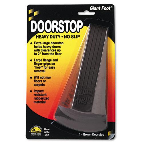 Giant Foot Doorstop, No-Slip Rubber Wedge, 3.5w x 6.75d x 2h, Brown