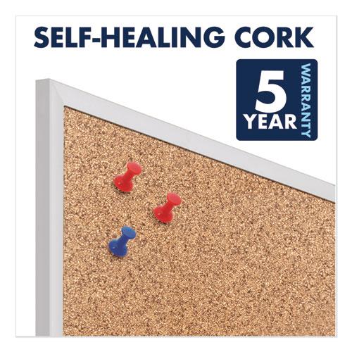 Classic Series Cork Bulletin Board, 36 x 24, Silver Aluminum Frame
