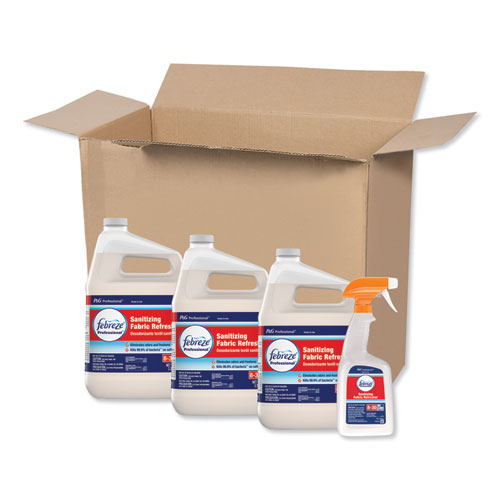 Professional Sanitizing Fabric Refresher, Light Scent, 1 gal, Ready to Use, 3/Carton