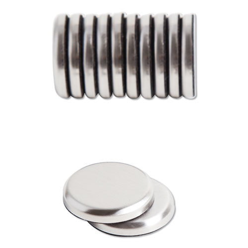 High Energy Magnets, Circle, Silver, 1.25 Dia, 12/Pack