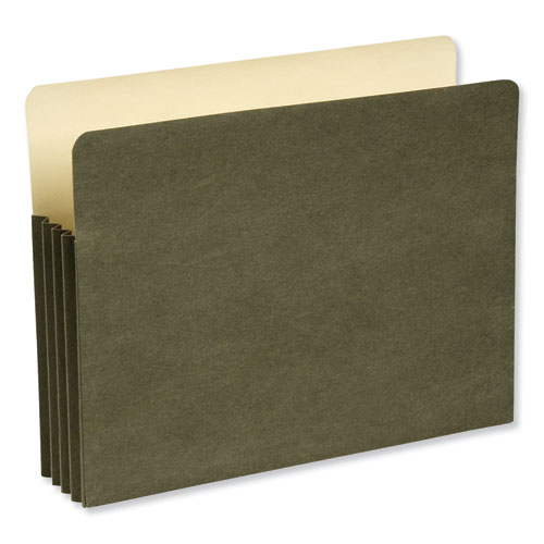 Recycled File Pocket, 3.5 Expansion, Letter Size, Green