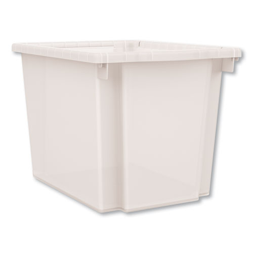 Flagship Storage Bins, 12.75 x 16 x 12, Translucent, Two Large Trays and Four Rails/Kit