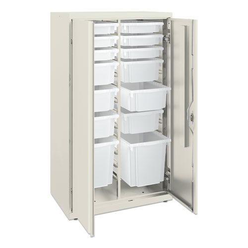 Flagship Storage Cabinet with 6 Small, 6 Medium and 2 Large Bins, 30 x 18 x 52.5, Charcoal