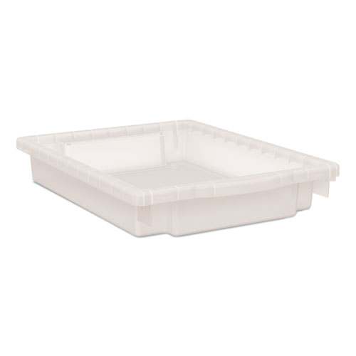 Flagship Storage Bins, 12.75 x 16 x 3, Translucent, Two Small Trays and Four Rails/Kit