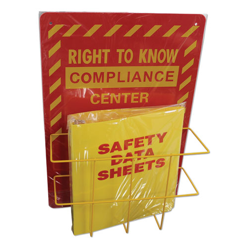 Deluxe Reversible Right-To-KnowUnderstand SDS Center, 14.5w x 5.2d x 21h, Red/Yellow