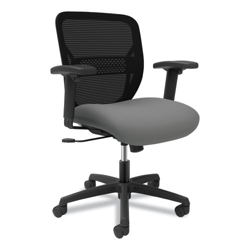 Gateway Mid-Back Task Chair with Arms, Supports up to 250 lbs, Frost Seat, Black Back, Black Base