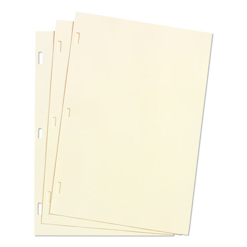 Wilson jones - looseleaf minute book ledger sheets, ivory linen, 11 x 8-1/2, 100 sheet/box, sold as 1 bx