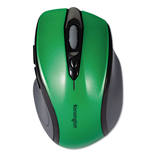 Pro Fit Mid-Size Wireless Mouse, 2.4 GHz Frequency/30 ft Wireless Range, Right Hand Use, Emerald Green | by Plexsupply
