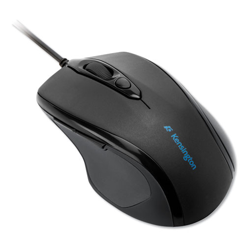 Pro Fit Wired Mid-Size Mouse, USB 2.0, Right Hand Use, Black | by Plexsupply
