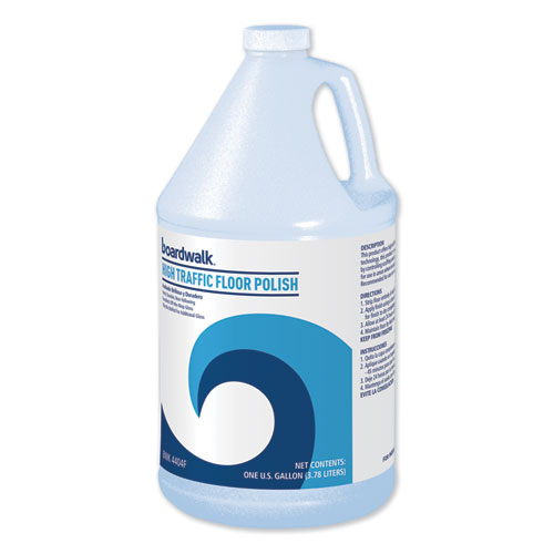 Boardwalk® High Traffic Floor Polish, 1 gal Bottle, 4/Carton
