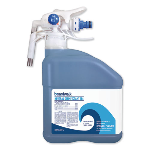 Boardwalk® PDC Neutral Disinfectant, Floral Scent, 3 Liter Bottle, 2/Carton