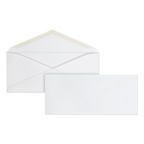 Business Envelope, 10, Commercial Flap, Gummed Closure, 4.13 x 9.5, White, 100/Box