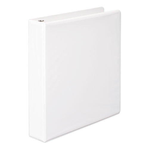 Wilson jones - heavy-duty d-ring vinyl view binder, 1-1/2-inch capacity, white, sold as 1 ea
