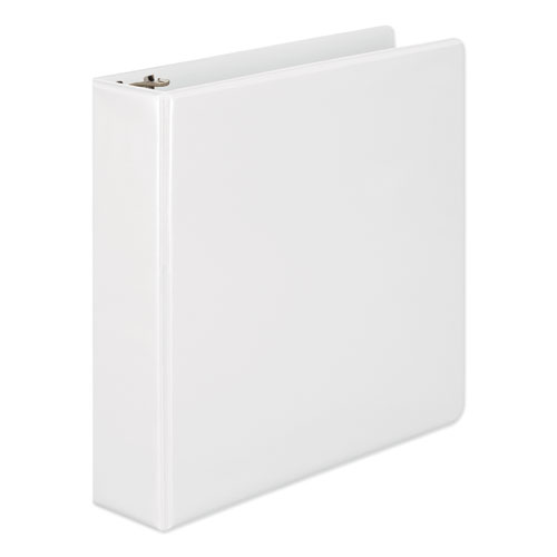 Wilson jones - heavy-duty d-ring vinyl view binder, 2-inch capacity, white, sold as 1 ea