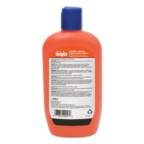 NATURAL ORANGE Pumice Hand Cleaner, Citrus, 14 oz Bottle, 12/Carton